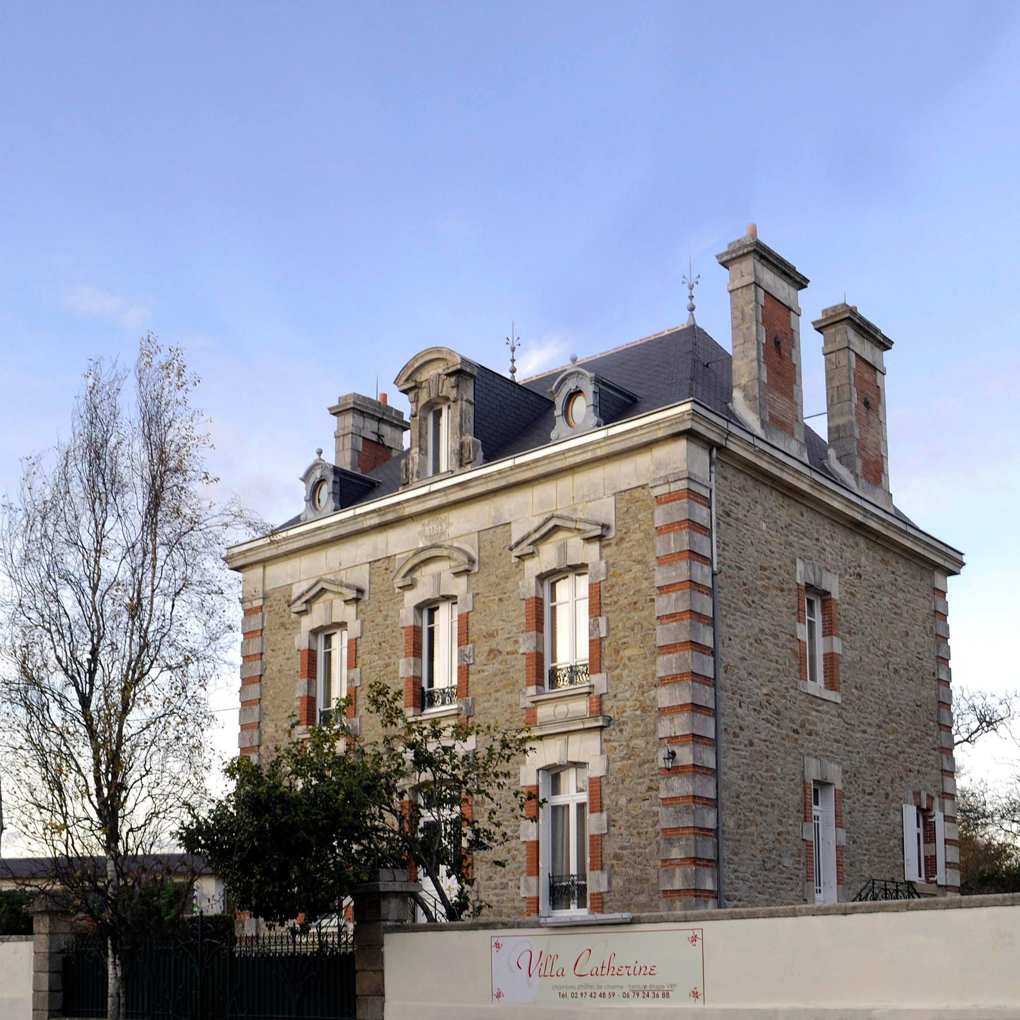 Photo de Villa Catherine à Vannes où se situe le bureau d'Hélène Lassignardie, psychologue TCC